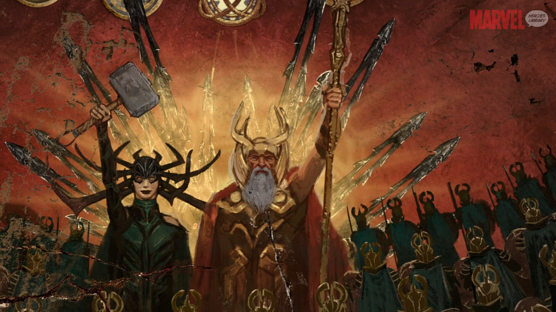 Popular Wallpaper Marvel Odin - hela-and-odin-painting-hd-1920x1080  2018_314962.jpg