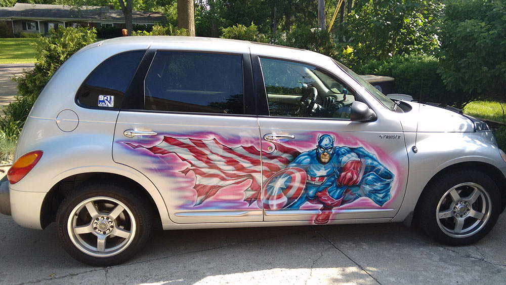 FOR SALE: 2001 Captain America PT Cruiser image