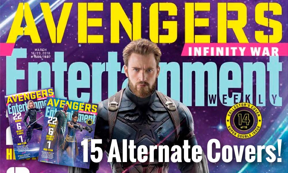 Entertainment Weekly Avengers Infinity War Comes in 15 Alternate Covers! image