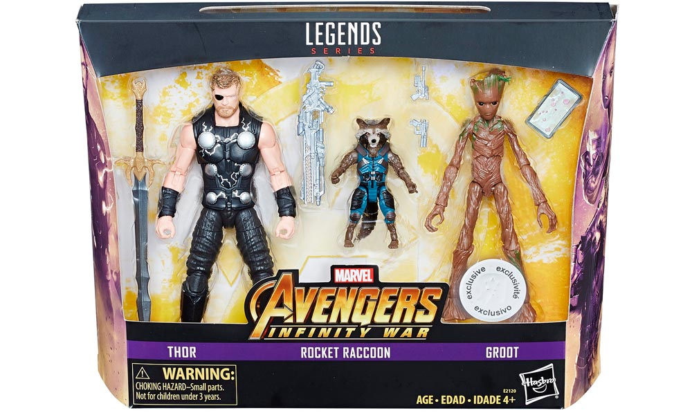 Toys R Us Exclusive Thor and Guardians of the Galaxy Infinity War Toys image