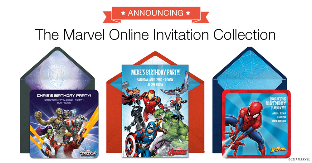 Spider-Man and the Avengers Invite You to Parties! image