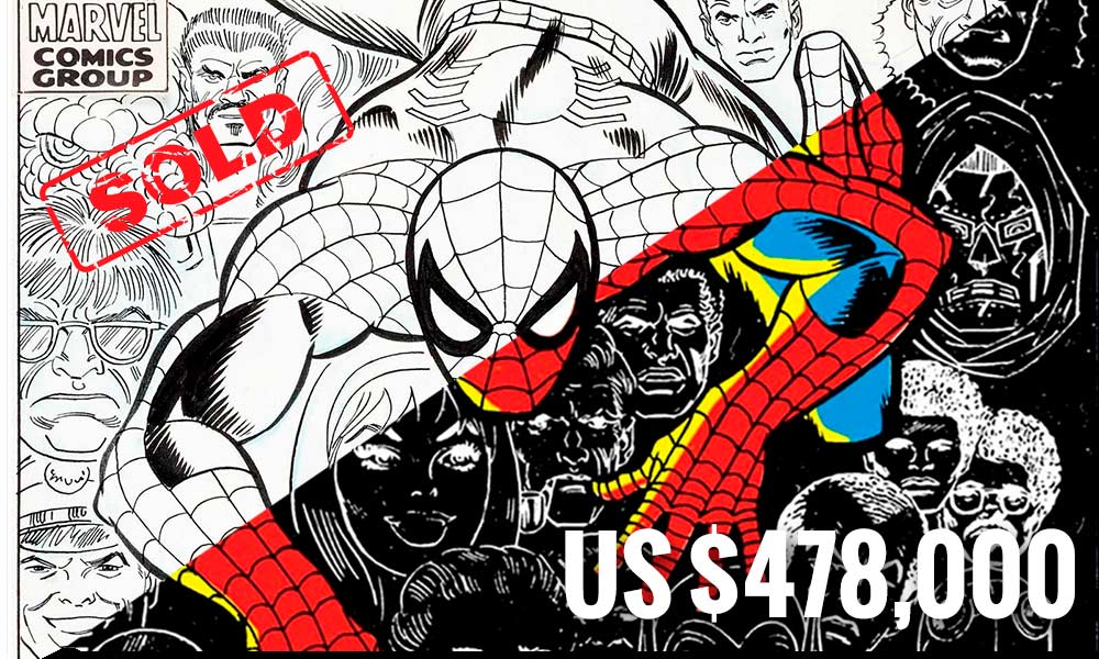 Original Spider-Man Cover Sells for Almost Half a Million Dollars image