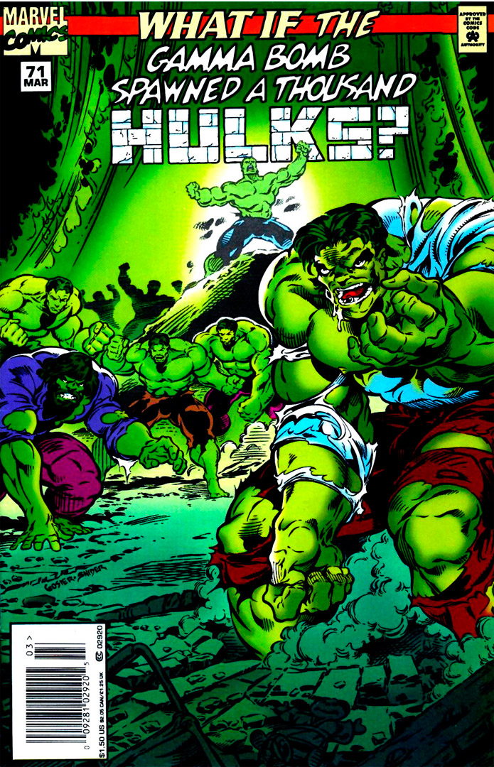 What If #71 Review (Mar 1995)   What If The Gamma Bomb Spawned A Thousand Hulks?