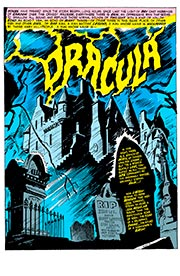 Page #1from Tomb of Dracula #1